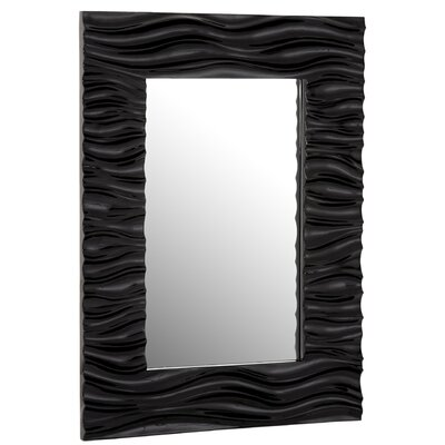 Stylish Rectangular Wavy Framed Glass Wall Mirror 2007-P