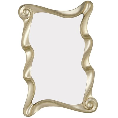 Stylish Irregular Shaped Modern Antique Silver Framed Wall Mirror 1379-P