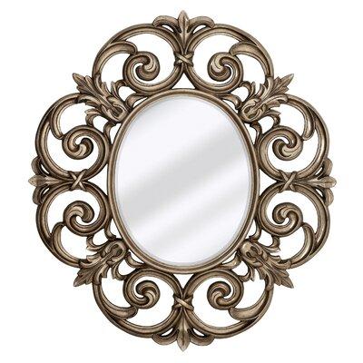 large traditional round decorative oval shaped beveled glass