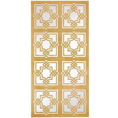 Large Rectangle Floor Mirror with Geometric Gold Leaf Detailing 2562-P