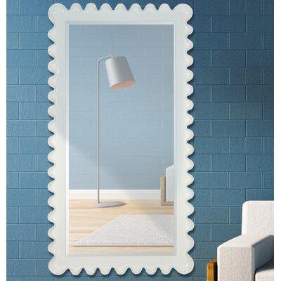 Full Length Wenge Rectangular Framed Beveled Glass Wall Mirror 2653-B