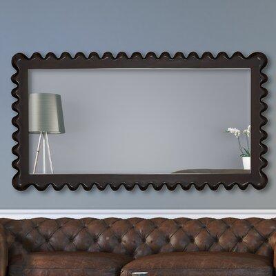 Full Length Wenge Rectangular Framed Beveled Glass Wall Mirror 2652-B