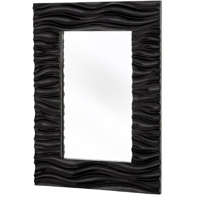 Contemporary Plain Mirror in Black Lacquer