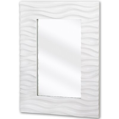 Stylish Rectangular Wavy Framed Glass Wall Mirror 2008-P