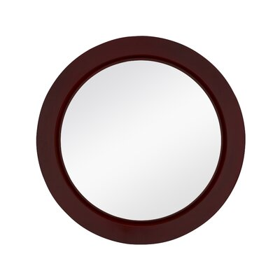 Majestic Mirror Contemporary Round Wall Mirror - Finish: Chinese Red Laccquer at Sears.com
