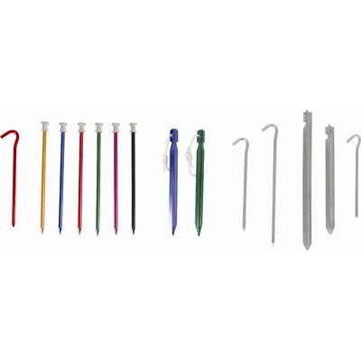 Hooked Tent Peg (Pack of 6) (Set of 2)
