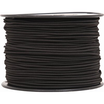 Shock Cord Color: Black, Size: 0.25 x 500 Feet