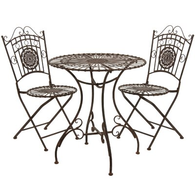 3 Piece Bistro Set Finish: Rust Patina