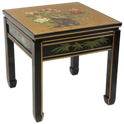 Gold Leaf Ming End Table