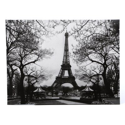 'Eiffel Tower Park' Photographic Print on Wrapped Canvas