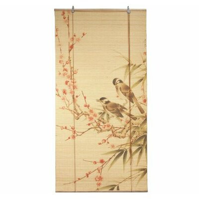Love Birds Beige Roll-Up Shade Size: 24 W x 72 L