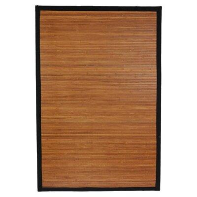 Aurelio Burnt Bamboo Area Rug Rug Size: 5 x 8