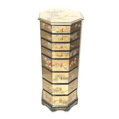 Gold Leaf Jewelry Armoire