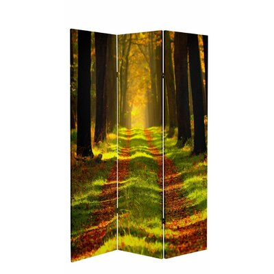 "71"" x 38.75"" Tall Double Sided Trail of Joy Canvas 3 Panel Room Divider CAN-PATH2"