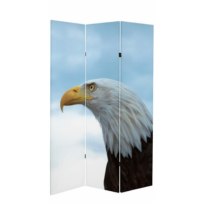 "71"" x 38.75"" Tall Double Sided Spirit of America Canvas 3 Panel Room Divider CAN-USA"