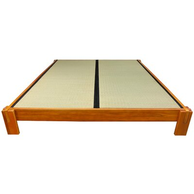 Christofor Platform Bed Size: Queen, Finish: Honey