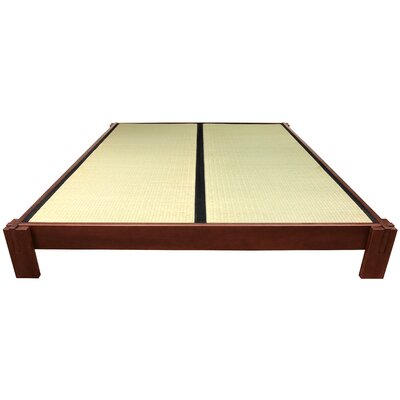 Christofor Platform Bed Size: Twin, Finish: Walnut