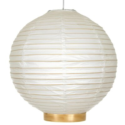 Maru Bamboo Shoji Globe Pendant Size: 12 H x 12 W x 12 D