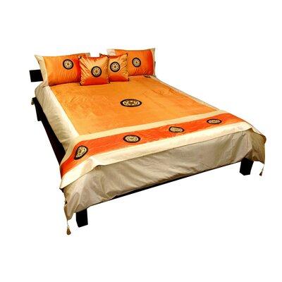 6 Piece Duvet Cover Set Size: King, Color: Amber