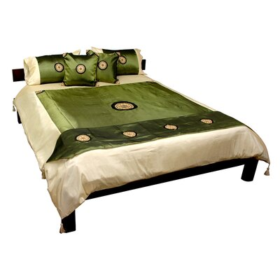 6 Piece Duvet Cover Set Size: King, Color: Jade