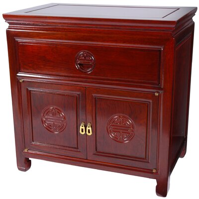 1 Drawer Nightstand Finish: Cherry