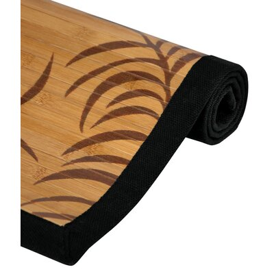 Tropical Tan Leaf Bamboo Area Rug Rug Size: 2 x 3