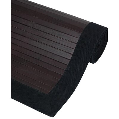 Bamboo Mocha Area Rug Rug Size: 4 x 6