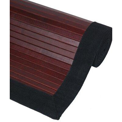 Bamboo Mahogany Area Rug Rug Size: 2 x 3