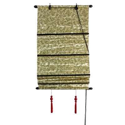 Design Shang Hai Tan Roman Shade Size: 24 W x 72 L, Color: Gold