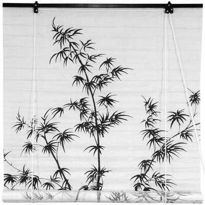 Bamboo Tree Shoji Rice Paper Roller Blind Size: 36 W x 72 L