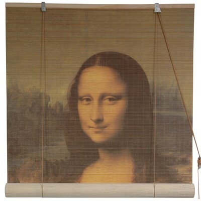 Mona Lisa Bamboo Roller Blind Size: 48 W x 72 L