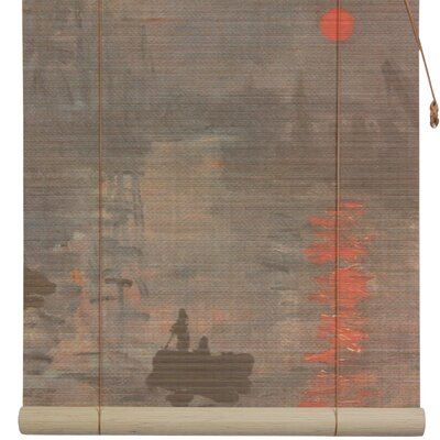 Impression Sunrise Bamboo Roller Blind Size: 72 W x 72 L