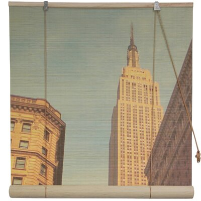 Empire State Building Bamboo Roller Blind Size: 24 W x 72 L