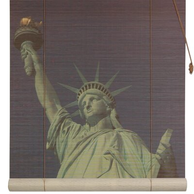 Statue of Liberty Bamboo Roller Blind Size: 24 W x 72 L