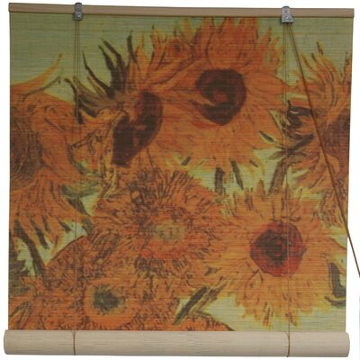 Sunflowers Yellow Roll-Up Shade Size: 24 W x 72 L
