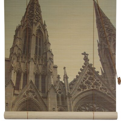 St. Patricks Cathedral Bamboo Roller Blind Size: 36 W x 72 L