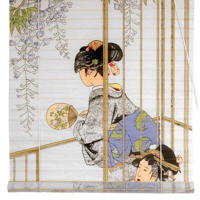 Geisha Shoji Rice Paper Roller Blind Size: 36 W x 72 L