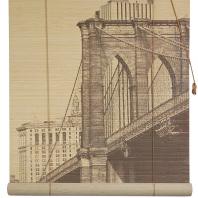 Brooklyn Bridge Bamboo Roller Blind Size: 48 W x 72 L