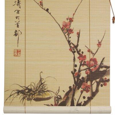 Sakura Blossom Roll-Up Shade Size: 24 W x 72 L