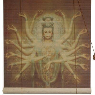 Thousand Arm Kwan Yin Bamboo Roller Blind Size: 36 W x 72 L