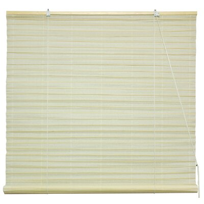 Shoji Room Darkening Roll-Up Shade Size: 48 W x 72 L, Color: Light Cream