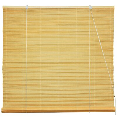 Shoji Room Darkening Roll-Up Shade Size: 60 W x 72 L, Color: Light Orange