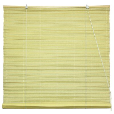 Shoji Room Darkening Roll-Up Shade Size: 36 W x 72 L, Color: Light Yellow