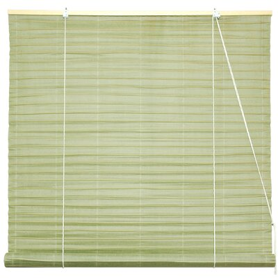 Shoji Room Darkening Roll-Up Shade Size: 60 W x 72 L, Color: Light Brown