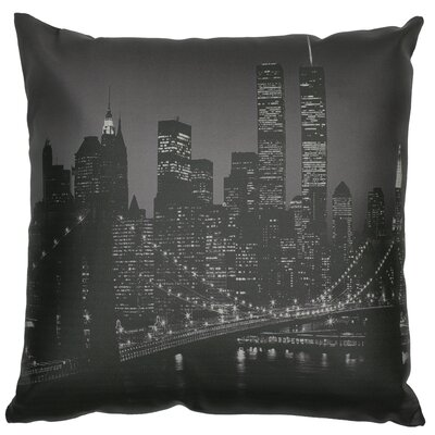 Brooklyn Bridge at Night Throw Pillow