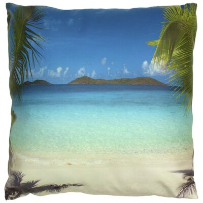 Caribbean Beach Throw Pillow