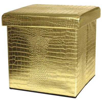 Storage Ottoman Upholstery: Gold