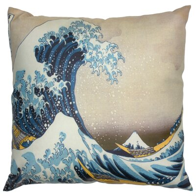 Great Wave Off Kanagawa Throw Pillow