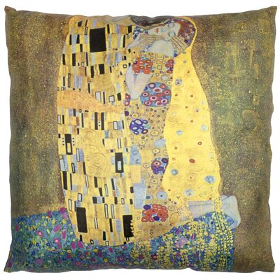 Klimt The Kiss Throw Pillow