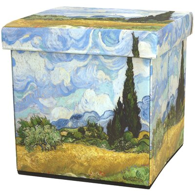 Van Gogh Wheat Field Storage Ottoman